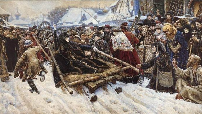 Боярыня Морозова. Автор: Василий Суриков.