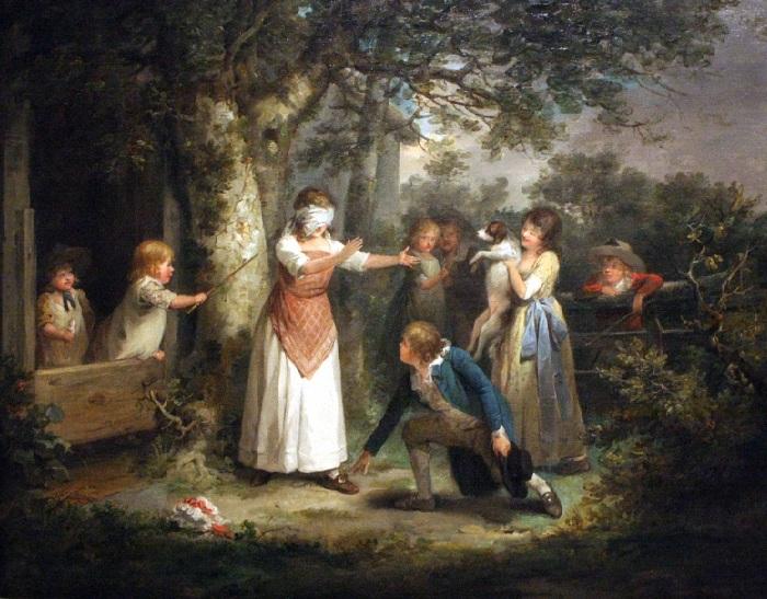 Хендрик Джозеф Дилленс (Бельгия, 1812-1872) «Blindmans Buff».