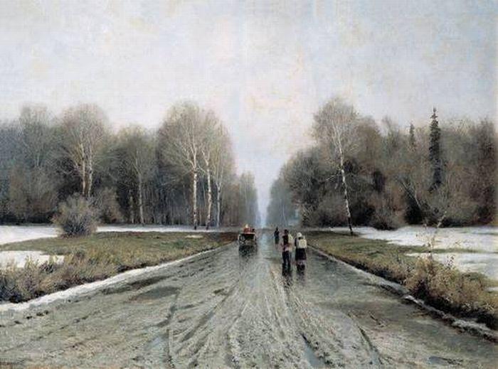 «Ранняя весна». (1885). Автор: Ендогуров И. И.