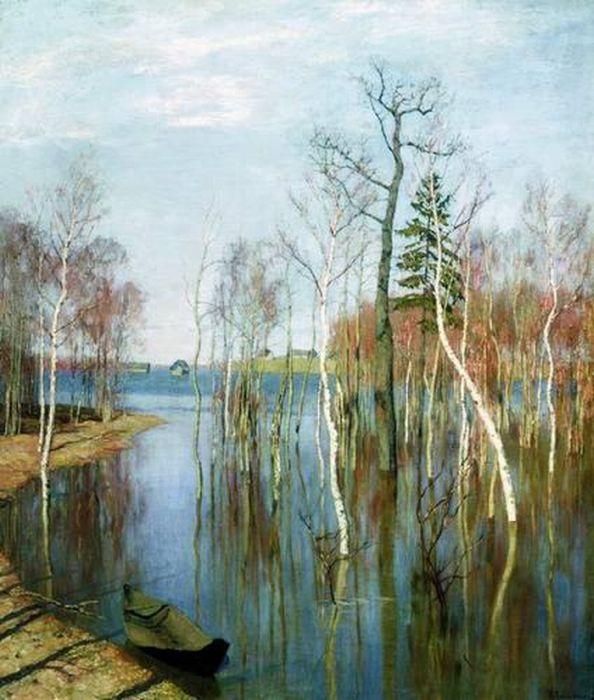 «Весна. Большая вода». (1897). Левитан И. И.