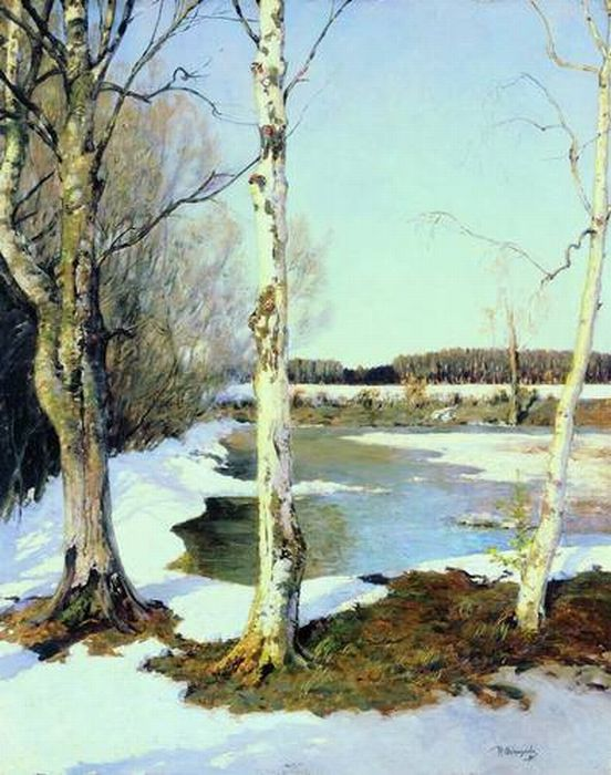 «Ранняя весна». (1891). Автор: Остроухов И. С.