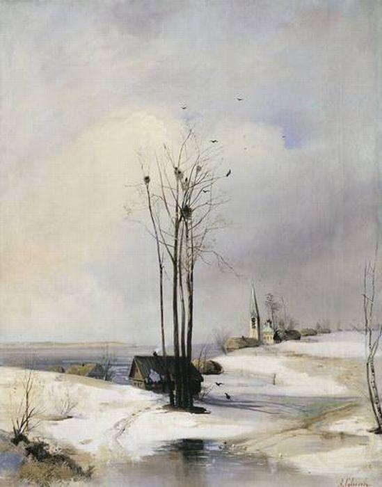 «Ранняя весна. Оттепель». (1880-е). Автор: Саврасов А. К.