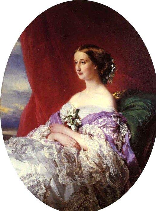 Императрица Евгения. Автор: Франц Ксавер Винтерхальтер.
