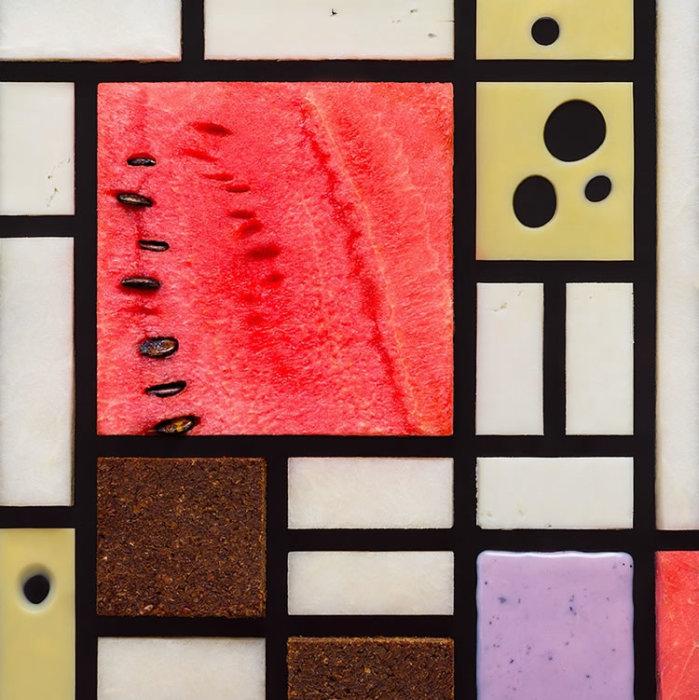 Пит Мондриан, «Композиция с большой красной плоскостью, желтым, черным, серым и синим». Художественный проект от Татьяны Шкондиной.