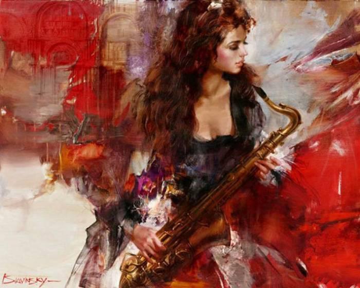 Саксофонистка. Автор: Иван Славинский