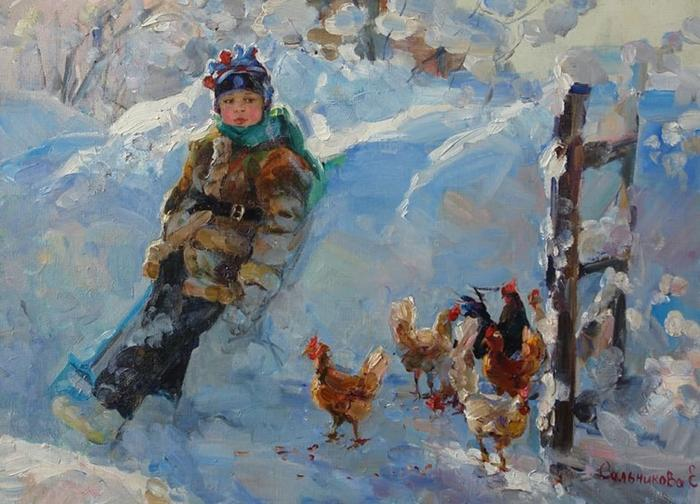 Куры. Автор: Елена Сальникова.