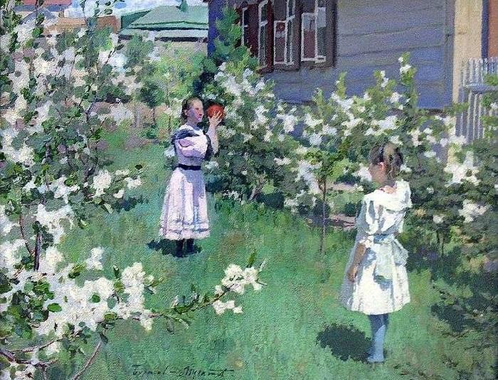 В.Э. Борисов-Мусатов. «Майские цветы». (1894 год). Холст, масло. Государственная Третьяковская галерея.