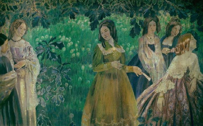 В.Э. Борисов-Мусатов. «Изумрудное ожерелье». (1903-1904 гг.) Государственная Третьяковская галерея.