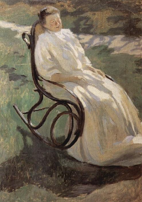 В.Э. Борисов-Мусатов. Дама в качалке (эскиз к неосуществленной картине