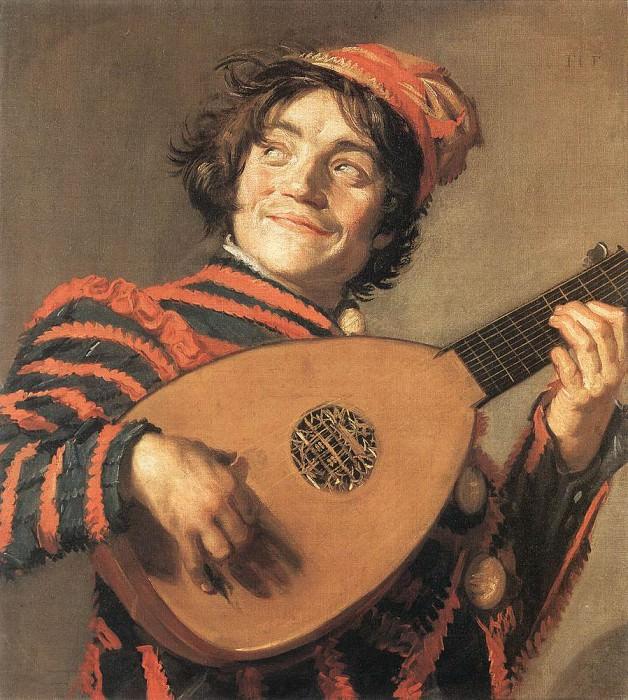 Шут с лютней. (1623 год). Автор: Франс Хальс.