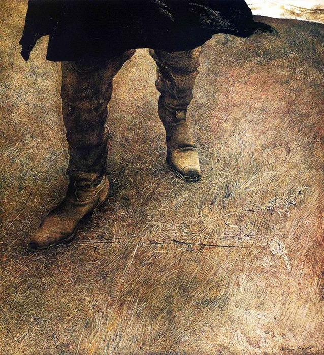 «ПроÑодящий по сорным травам». Автор: Ðндрю Уайет.
