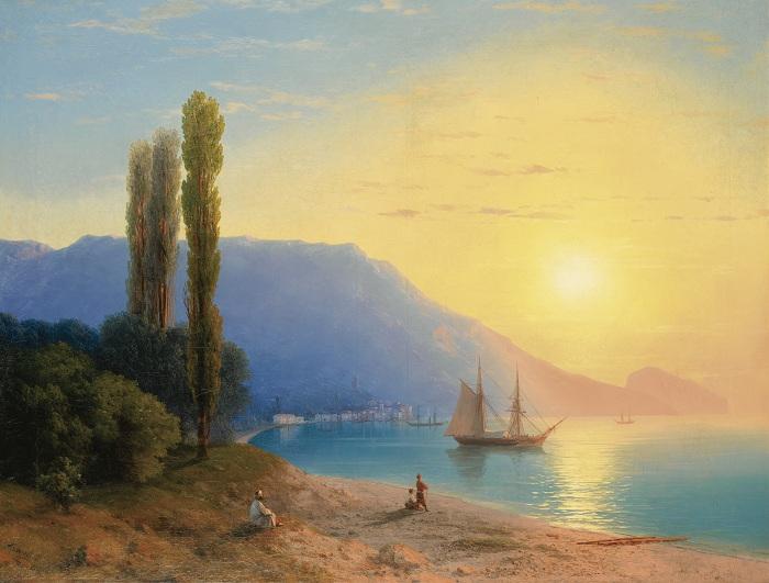 Море возле Ялты. Автор: Иван Айвазовский.