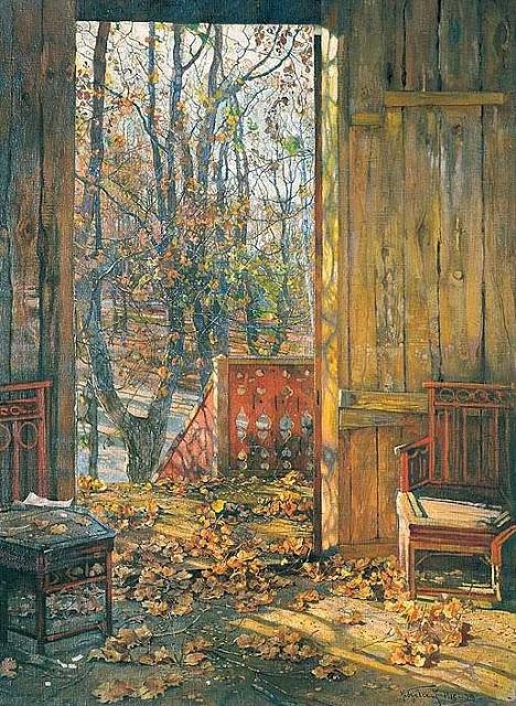 «Осенью на даче». Автор: Исаак Израилевич Бродский.