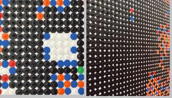 Крошечные цветные точки - составляющие элементы картин художника
