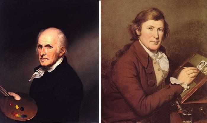 Автопортрет. (1822 год.) /  Портрет Джеймса Пила - брата художника. Автор: Чарльз Уилсон Пил.