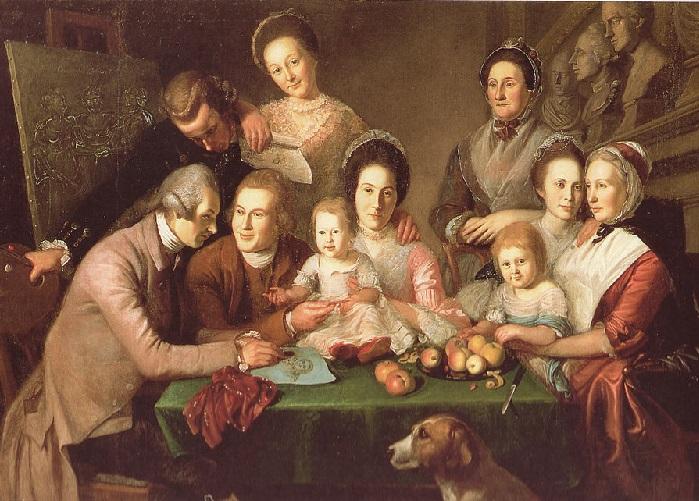 Портрет семьи художника. Автор: Чарльз Уилсон Пил.