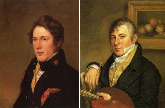 Сыновья художника. Тициан Пил. (1819 год.) / Рафаэль Пил. (1817 год). Автор: Чарльз Уилсон Пил.