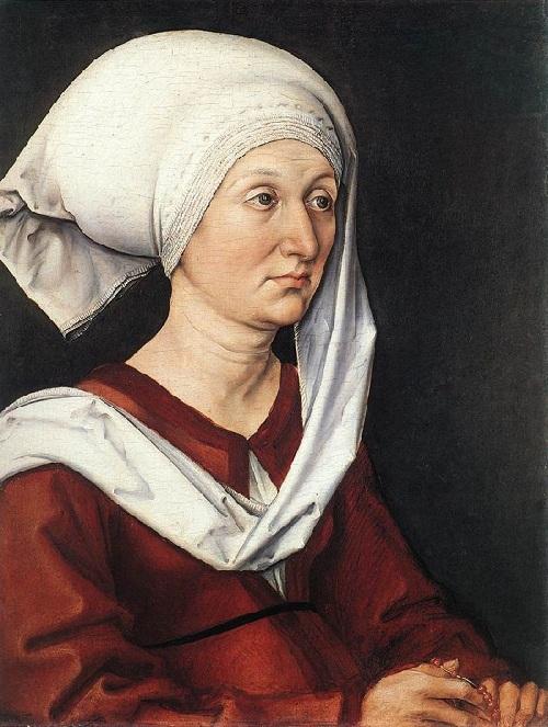 Мать. Барбара Дюрер. (1490). Автор: Альбрехт Дюрер.