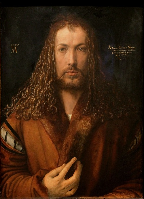 «Автопортрет в шубе в возрасте 28 лет». 1500. Автор: Альбрехт Дюрер.