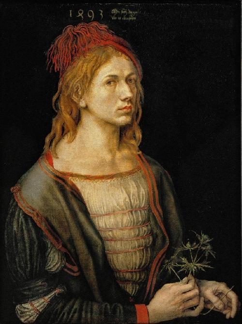 С остролистом (1493). Автор: Альбрехт Дюрер.