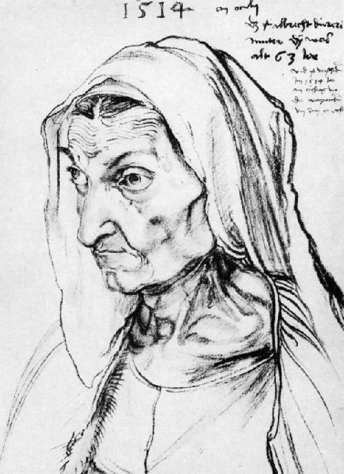 Мать. Барбара Дюрер.(1514). Автор: Альбрехт Дюрер.