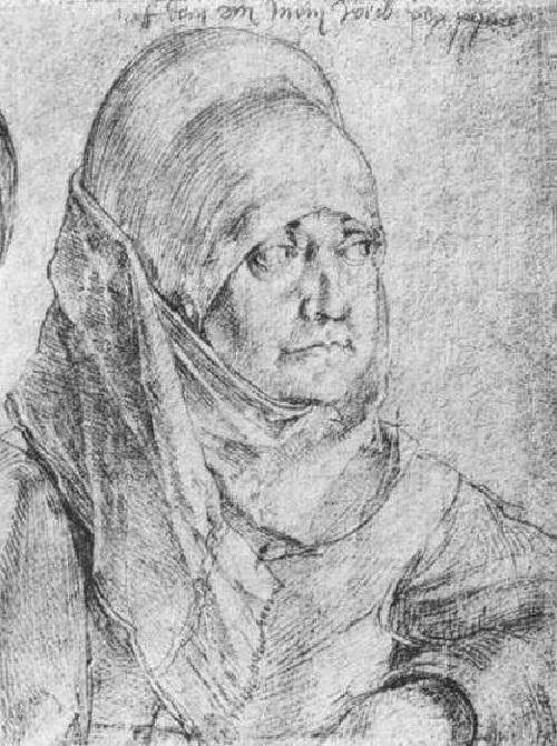 Жена. Агнес Дюрер. Автор: Альбрехт Дюрер.