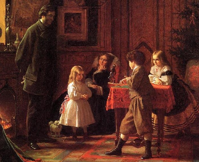 The Blodgett Family. Christmas Time». «Рождественское время. Семья Блоджетт». Автор: Истмен Джонсон.