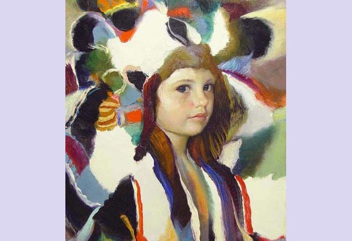 Портрет девочки от Франсиско Массерии.  |Фото: pinterest.com