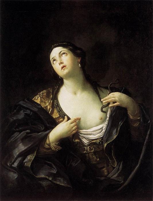 «Смерть Клеопатры». 1625. Новый дворец, Потсдам. Автор: Рени Гвидо.