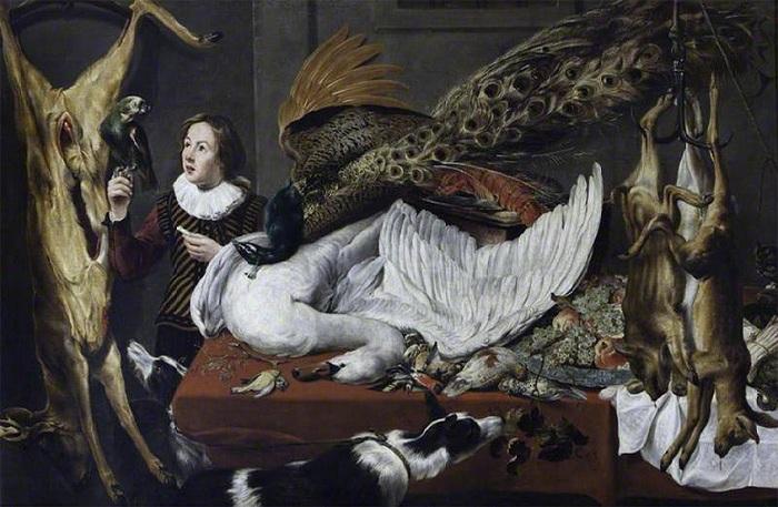 «Натюрморт с попугаем». Автор: Франс Снейдерс.