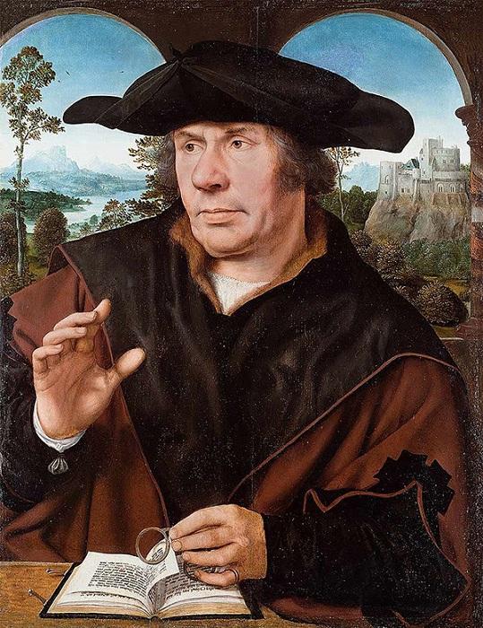 «Портрет ученого». Городской музей Франкфурта. Автор: Квентин Массейс.