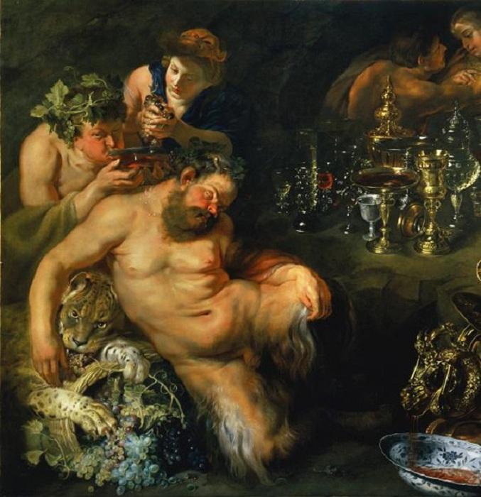 «Пьяный Силен, поддерживаемый сатирами». (1620). Мастерская Рубенса.