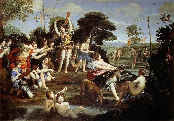 «Охота Дианы».  Галерея Боргезе. Рим. Автор: Доменико Дзампьери.