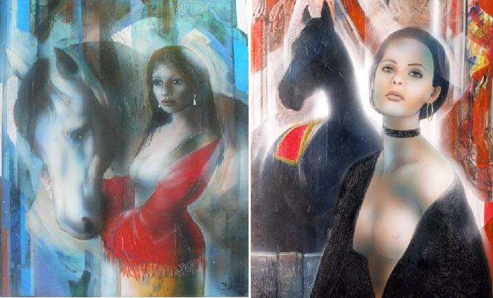 Женщины глазами художника Жан-Батиста Валади. |Фото: galerievictorhugo.fr