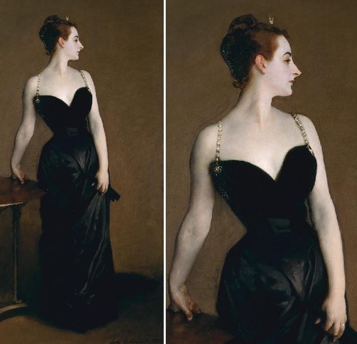 «Портрет мадам Икс». (1884 год). Холст, масло. 234 х 109 см. Музей Метрополитен, Нью-Йорк. Автор: Джон Сингер Сарджент.