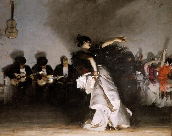 Испанский танец. Автор: Джон Сингер Сарджент.