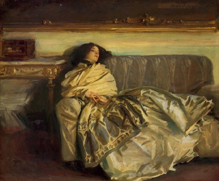 Отдых. Автор: Джон Сингер Сарджент. 1911. Холст, масло. 63,8x76,2