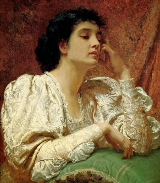 Хотя б одно касание руки исчезнувшей... (1870 год). Художник: Чарльз Перуджини.