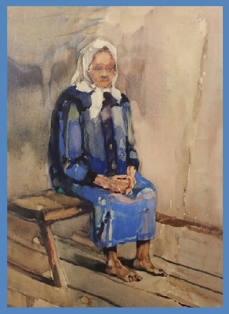 Портрет старушки.Автор: Коля Дмитриев.