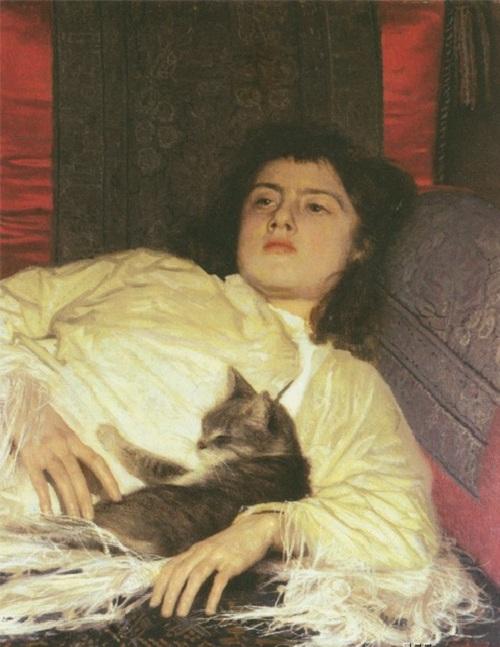 Девушка с кошкой (1882). Автор: И.Н.Крамской.| Фото: maxpark.com.