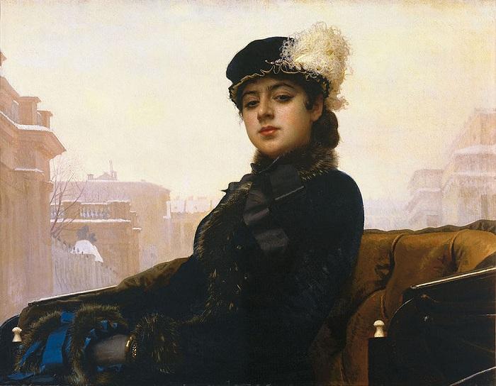 Портрет Неизвестной.(1883). Автор: И.Н.Крамской. | Фото: livejournal.com.