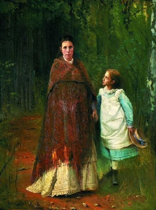 Соня Крамская с матерью Софьей Николаевной. Автор: И.Н.Крамской.  | Фото: livejournal.com.