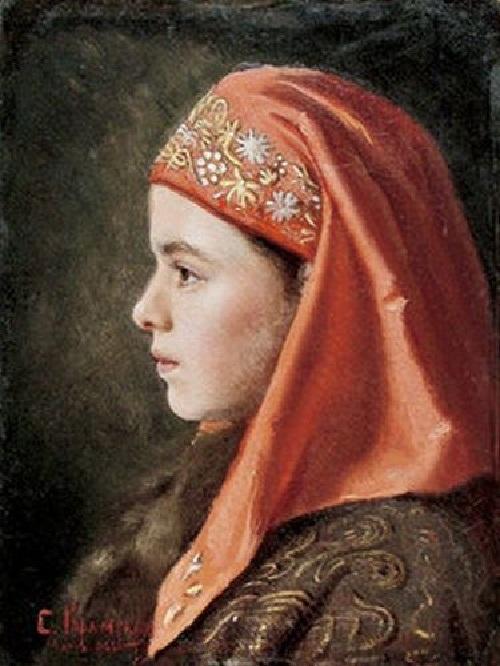 Портрет девочки. (1886). Автор: С.И.Крамская. | Фото: cyclowiki.org.