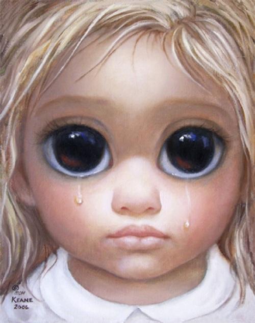 Большие глаза от художницы Маргарет Кин. ¦ Фото: liveinternet.ru.