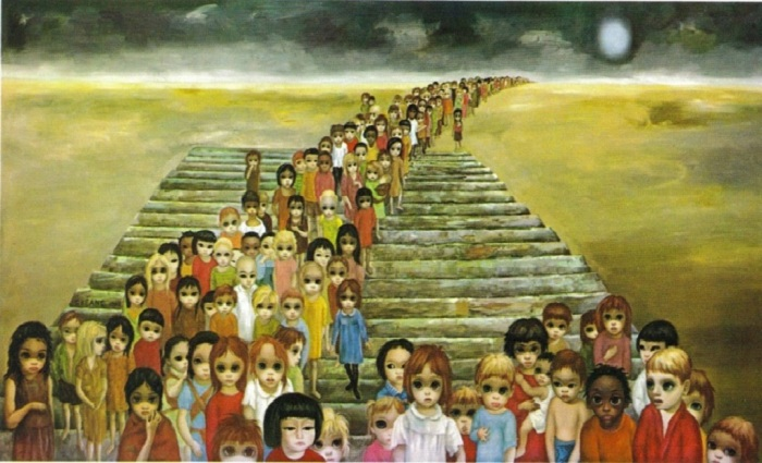 Полотно «Завтра навсегда».  Автор: Маргарет Кин. ¦ Фото: artrussian.com
