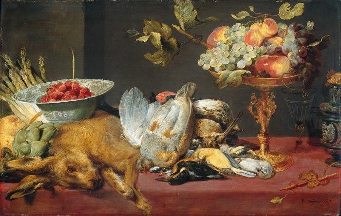 «Натюрморт с битой дичью и фруктами». (1600-1657). (Амстердам, Государственный музей). Автор: Франс Снейдерс.
