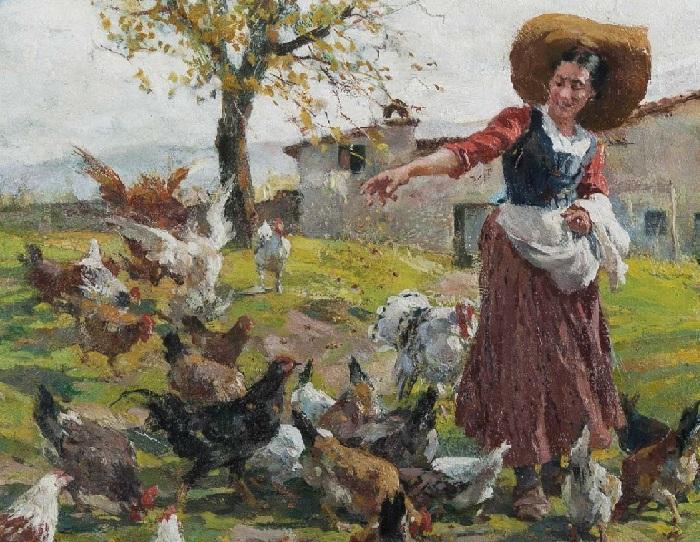 Молодая жена фермера. (1927 год). Художник: Рафаэлло Сорби.