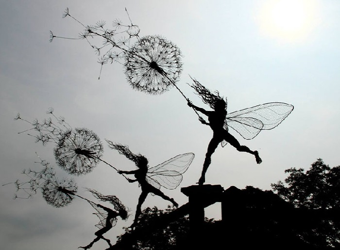 Проволочные скульптуры от Робина Уайта. | Фото: zagge.ru.