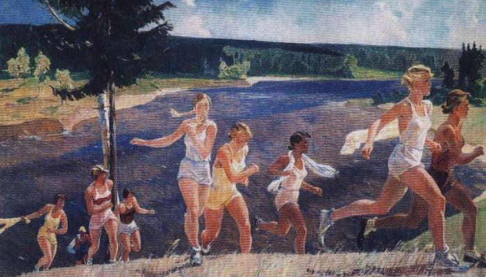«После кросса» живописное полотно Самохвалова А.Н. ¦ Фото: babanata.ru