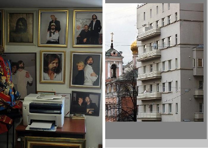 Квартира Никаса Сафронова: дом актеров МХАТа в Брюсовом переулке.